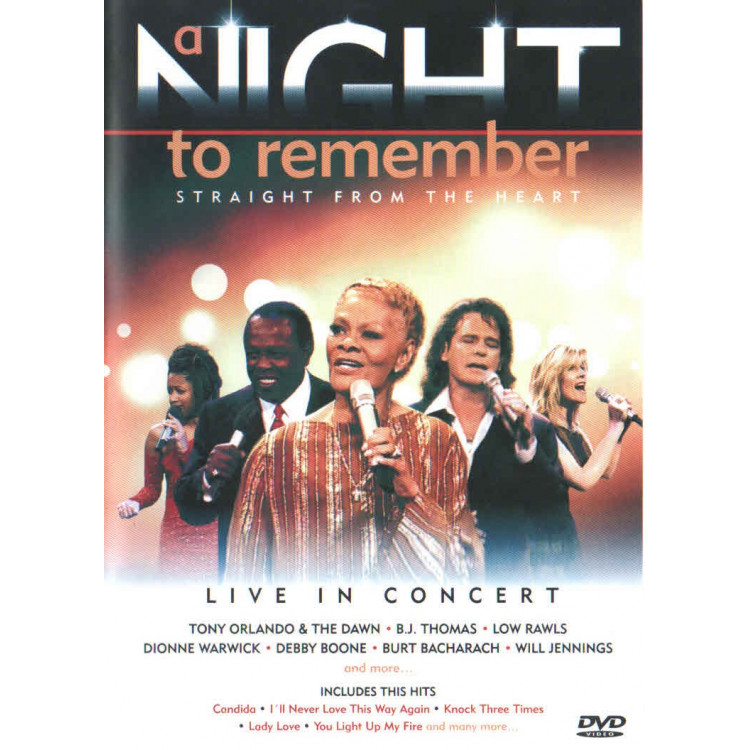 Dvd - A Night To Remember - Straight From The Heart