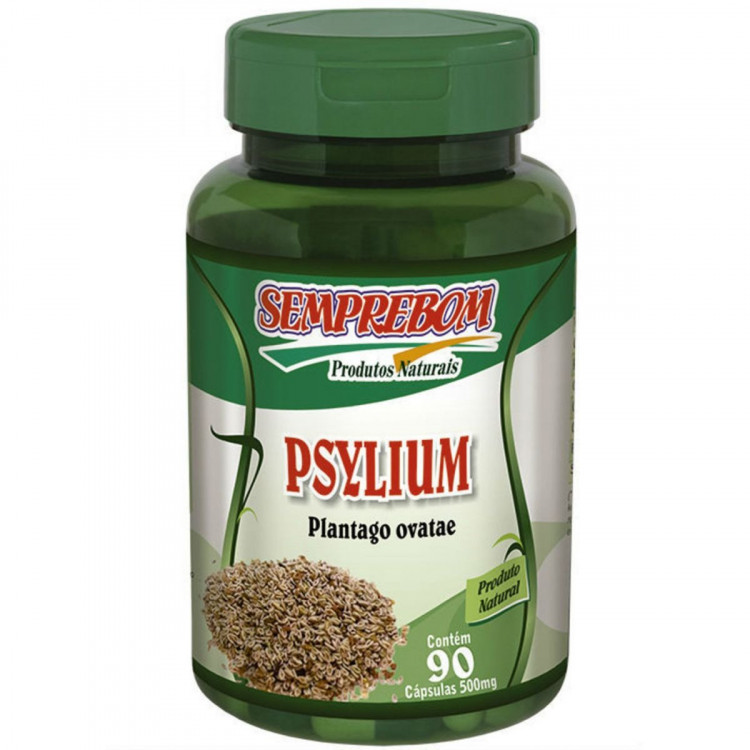 Psyllium - Semprebom - 90 Caps - 500 Mg